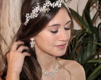 gold bridal hair vine, gold headband, gold wedding headband, gold wedding hairpiece, gold bridal vine