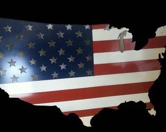 USA Flag Outline