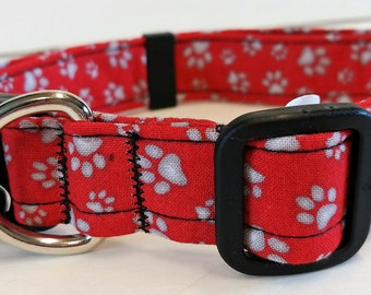Red Paw Collar by Doodlebug Duds