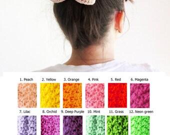Beige crochet hair bow, Beige crochet hairbow, Sand bow hair barrette, Crochet bow hair clip, Cute hair bow, Girl's hairbow, Sock bun bow