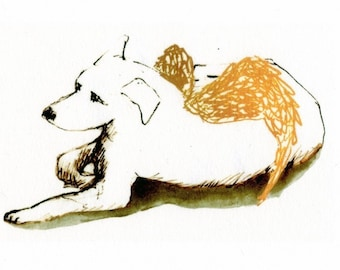 Dog Angel (Limited Edition Print) LAST PRINT!