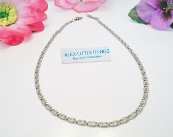 Vintage Snail Link Chain S Link Silver Tone Jewelry