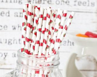 Water Melon Paper Straws, Beautiful Straws for Wedding or Birthday Celebration, Heart Straws, white, Paper Straws, Wedding Straws