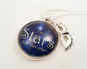 Labyrinth Necklace, Labyrinth-Inspired Necklace, I Move the Stars for No One, Goblin King Necklace
