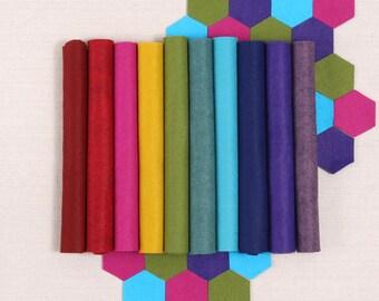 Wool Felt // Bejeweled // Rich Colors, Deep Hues, Jewel Tones, Merino Felt Sheets, Felt Assortment, DIY Craft Supply, Felt Collection