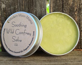 Organic Wild Comfrey Salve // Wild-harvested // Wild-crafted // Itch Relief // Cloth Diaper Safe // All Natural // Ethical // Sustainable