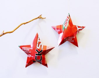 Kickstart Mtn Dew Energizing Fruit Punch Stars, Christmas Ornaments, Soda Can, Upcycled