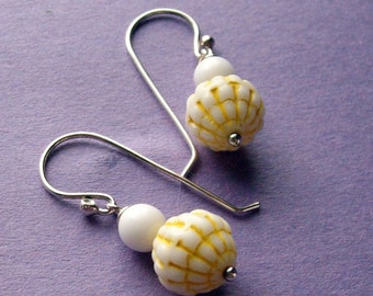 Lemon Ice - Silver White Yellow Handmade Sterling Earrings - Paw & Claw Designs