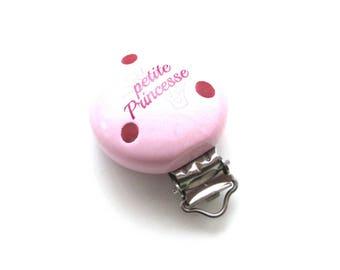Little Princess - soft pink wooden clip