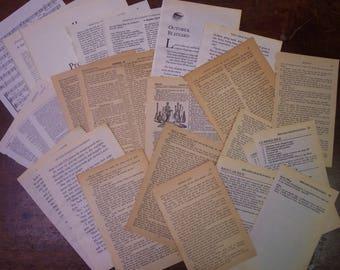 Vintage book pages, 25 pcs, ephemera, junk journal, scrapbook, faith journal, prayer journal pages, vintage paper pack