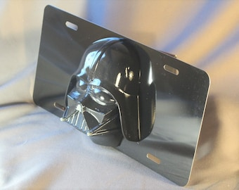 Large Star Wars Darth Vader Custom 3D license plate