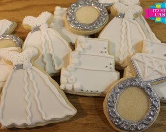 Wedding Bridal Shower Cookies- 1 Dozen