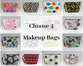 Gift Set - 4 Make Up Bags Gift Set - 4 Assorted Make Up Bags - Accessories - Cosmetic Bags - Bags - Pouches
