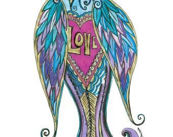 Love Bird 5 Card Pk