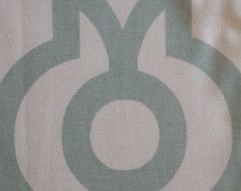 Home decor fabric, blue fabric, blue and white, Premier Prints - Lyon Artichoke, fabric remnants, remnant, home decor