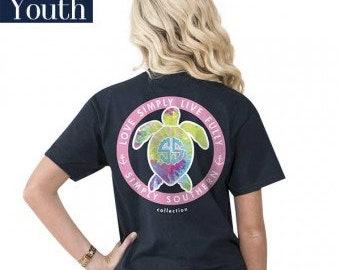Simply Southern® YTH-PREPPYLOGODYE-NAVY
