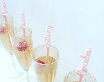 Vertical Name Swizzle Stick,Gift ideas,Personalized Gift,Drink Stirrer,Gift,wedding,bride,Stir Stick,Laser Cut,Brdial shower,1 count