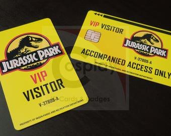 Jurassic Park ID Badge - Visitor Badge, Park Ranger, Lab Technician