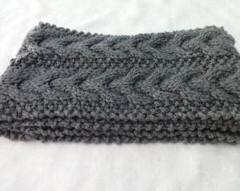 Hand Knit Cable Chunky Cowl