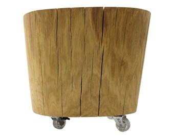 Tree trunk table oak, Ø approx. 51 cm