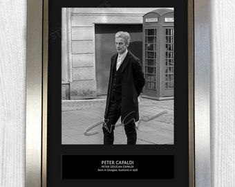 Peter Capaldi Doctor Who Framed Signed Autograph Reproduction Photo A4 Print