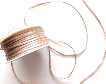 4.50 METRES of round color BEIGE art RAT tail cord 1165-D