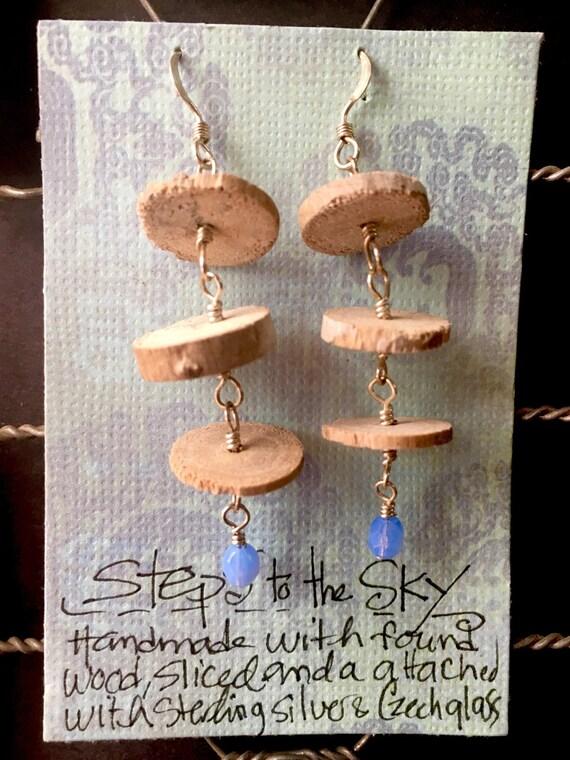 "Earrings ""Steps to the Sky"""