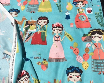 Blue Frida Fabric