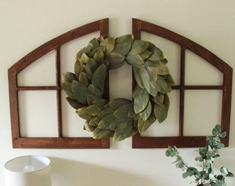 Custom Built Arched Window Panes Decorative Wall Hanging