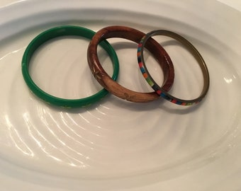 Collection of 3 vintage bangles