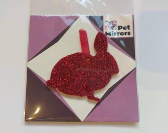 Glitter acrylic Rabbit/Bunny Style 1 Christmas decoration - 9 colour choices