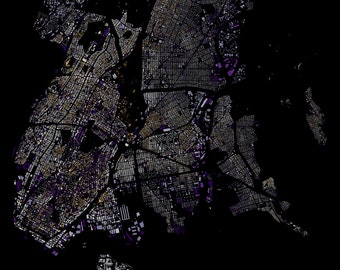 The Bronx abstract maps