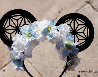 Interchangeable Mouse Ear Headband (Floral, Bow, or Neither)