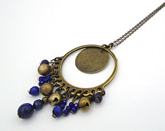 Bells and lapis lazuli necklace