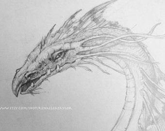 Water Dragon by Renae Taylor (original drawing)