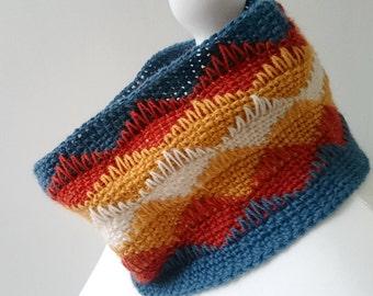 Easy Crochet Cowl Pattern - Pen y Fan Cowl in 3 sizes - PDF crochet neckwarmer pattern