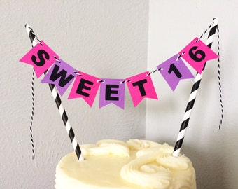 Birthday Cake Topper Banner
