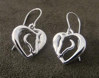 Hearts and Horses Drop Earrings