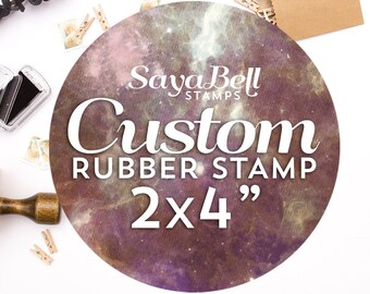 Custom Rubber Stamp, Logo Stamp, Business Card Stamp, Business Stamp. Custom Stamp 2x4 Inch