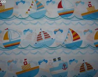 Fabric ships C320 coupon 50x50cm