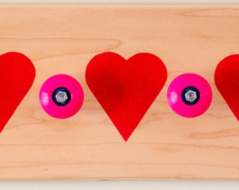 Skateboard Rack - Hearts