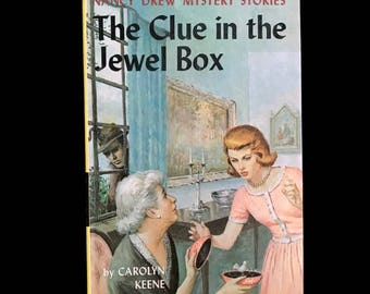 Vintage Nancy Drew 1943 Mystery Book The Clue in the Jewel Box by Carolyn Keene #20 Vintage Book Detective Vintage Mystery Book