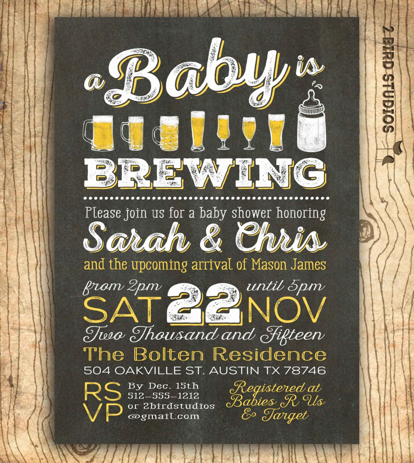 A baby is brewing coed baby shower invitation beer baby zoom filmwisefo Gallery