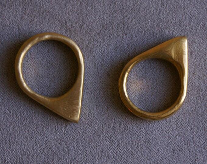 Spike Ring in Brass