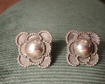Sterling Silver Earrings Taxco Mexico