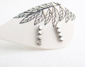modern minimalist studs - sterling silver bar post earrings