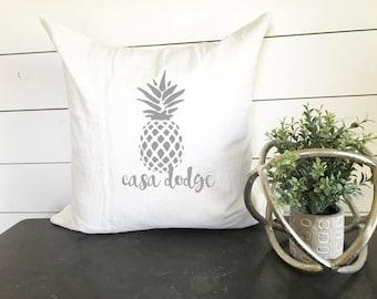 Pineapple Pillow Custom House Name Cover
