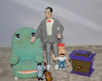 Pee-Wee's Playhouse / Matchbox / figures / accessories / 1988 / collectible / Pee-Wee Herman / 5.5 inches / Pee Wee / Matchbox figures