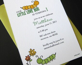 little love bug invitation