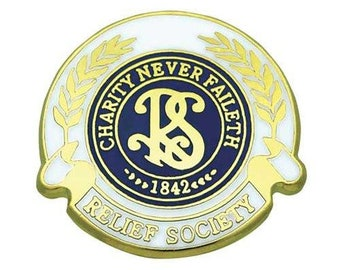 Pin Tie Tack Relief Society Lapel Pin (Relief Society Logo) - J17